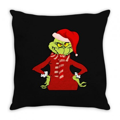 Christmas Grinch Throw Pillow Designed By Hasret