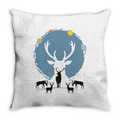 Deers Traveling For Light Throw Pillow Designed By Hasret