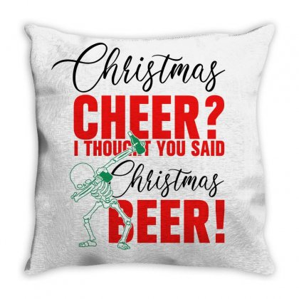 Christmas Cheer I Thought You Said Christmas Beer For Light Throw Pillow Designed By Gurkan