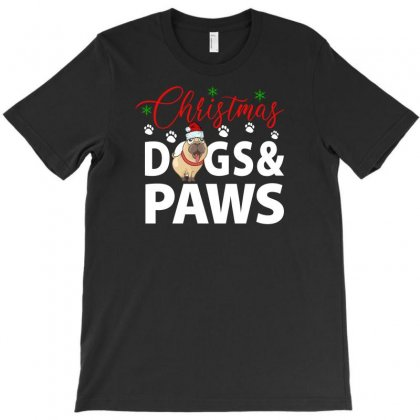 Christmas Dogs & Paws For Dark T-shirt Designed By Gurkan