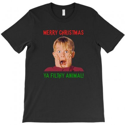 Merry Christmas Ya Filthy Animal T-shirt Designed By Hasret