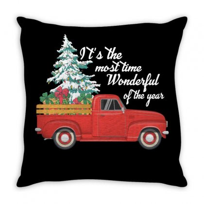 It' S The Most Time Wonderful Of The Year Throw Pillow Designed By Gurkan