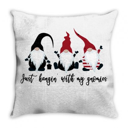Just Hangin' With My Gnomies For Light Throw Pillow Designed By Gurkan