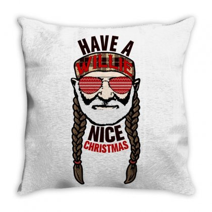 Have A Willie Nice Christmas Throw Pillow Designed By Gurkan