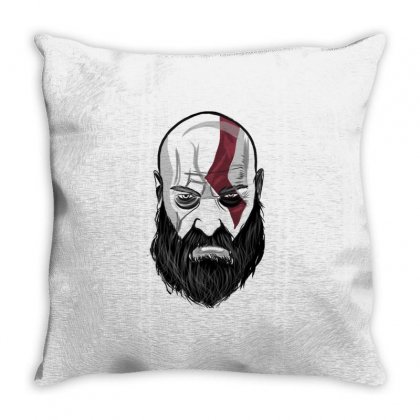 God Of War Throw Pillow Designed By Artwitharvind