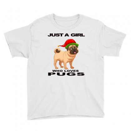 Just A Girl Who Loves Pugs, Pug Lover Gift Slim Youth Tee Designed By Alparslan