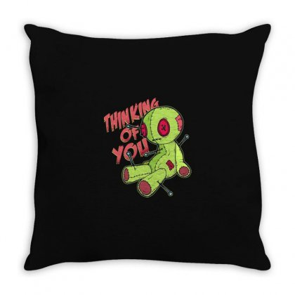 Thinking Of You Throw Pillow Designed By Disgus_thing