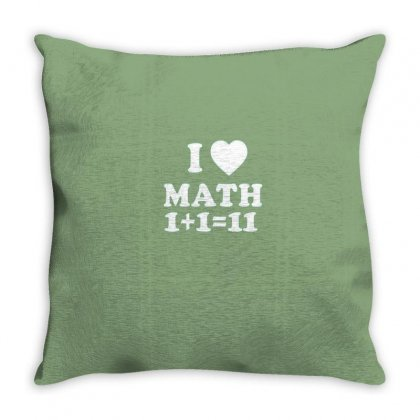 Math Love Throw Pillow Designed By Disgus_thing