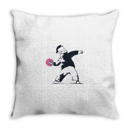 Donut Throw Pillow Designed By Disgus_thing