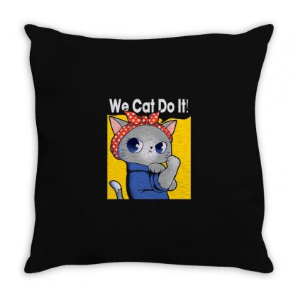 Cat Throw Pillow Designed By Disgus_thing