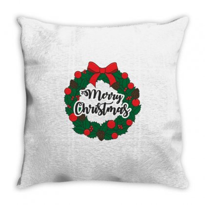 Merry Christmas Throw Pillow Designed By Zein