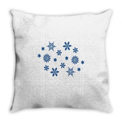 Snowing Day Throw Pillow Designed By Zein