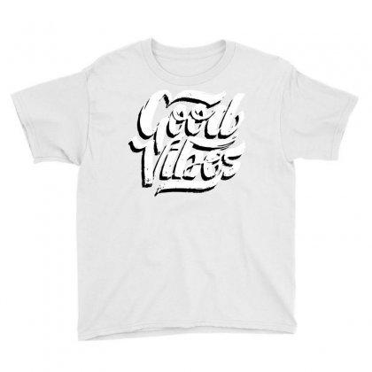 Good Vibes Youth Tee Designed By Blackheart