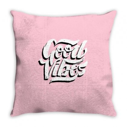 Good Vibes Throw Pillow Designed By Blackheart
