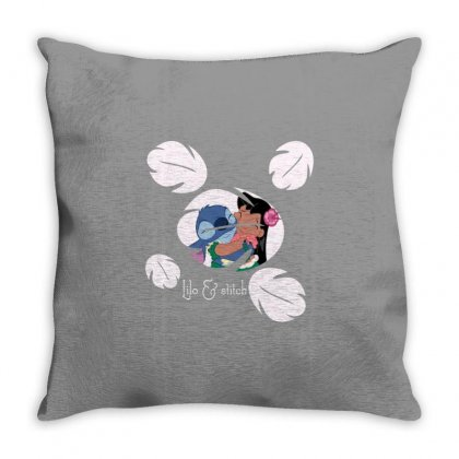 Lilo And Stitch Throw Pillow Designed By Bluebubble