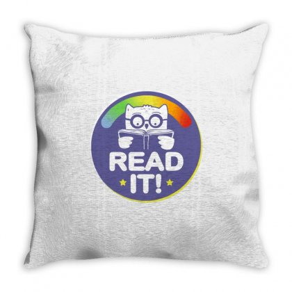 Read It! Throw Pillow Designed By Milaart