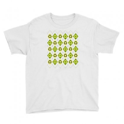 Reduce, Reuse, Reargyle Youth Tee Designed By Milaart