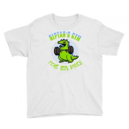 Reptar's Gym Youth Tee Designed By Milaart