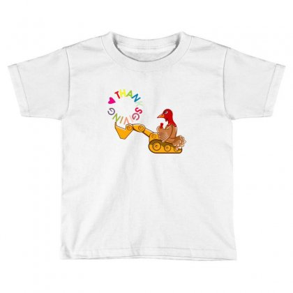Turkey Digging Thanksgiving Day Toddler T-shirt Designed By Sr88