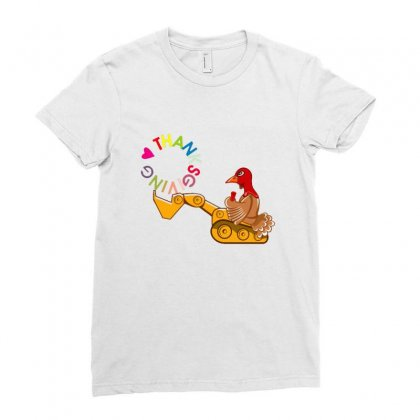 Turkey Digging Thanksgiving Day Ladies Fitted T-shirt Designed By Sr88