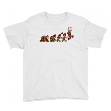 Retro Evolution Youth Tee Designed By Milaart
