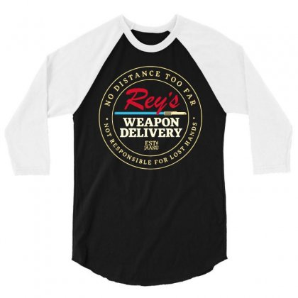 Rey's Weapon Delivery 3/4 Sleeve Shirt Designed By Milaart