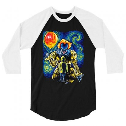 Pennywise And Georgie Shirt Pennywise Van Gogh Style 3/4 Sleeve Shirt Designed By Rodgergise