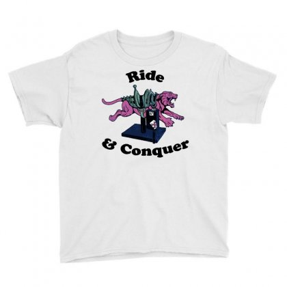 Ride & Conquer Youth Tee Designed By Milaart