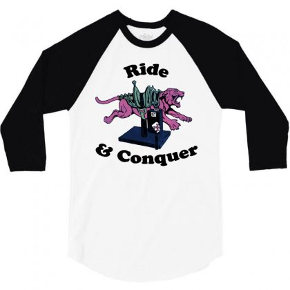 Ride & Conquer 3/4 Sleeve Shirt Designed By Milaart