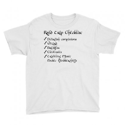 Road Trip Checklist Youth Tee Designed By Milaart