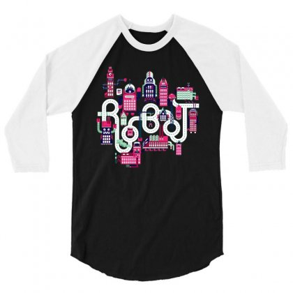 Robo City 3/4 Sleeve Shirt Designed By Milaart