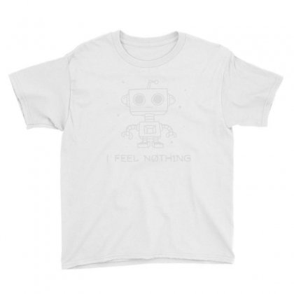 Robot Apathy Youth Tee Designed By Milaart