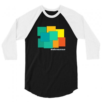 Box Color 3/4 Sleeve Shirt Designed By Cuser2350