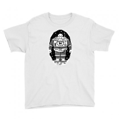 Robot From The Other Side Youth Tee Designed By Milaart