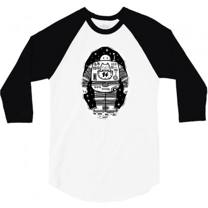 Robot From The Other Side 3/4 Sleeve Shirt Designed By Milaart