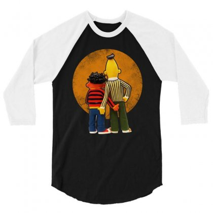 Real Love Bert And Ernie Funny 3/4 Sleeve Shirt Designed By Mirazjason