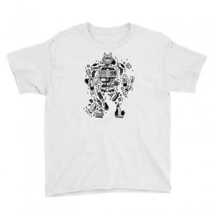 Robot Service Youth Tee Designed By Milaart
