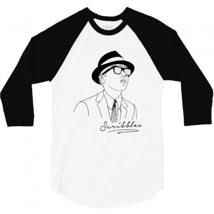 Scribbles Always For Light 3/4 Sleeve Shirt Designed By Rodgergise