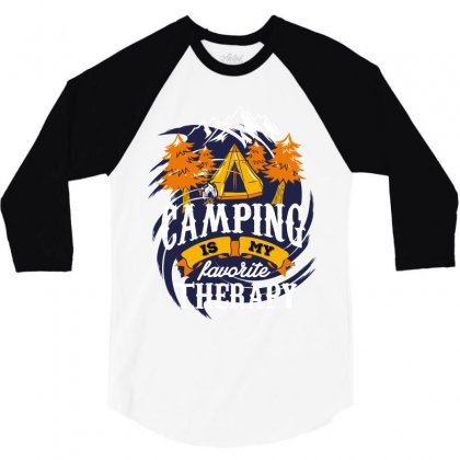 Camping Is My Favorite Therapy 3/4 Sleeve Shirt Designed By Wizarts
