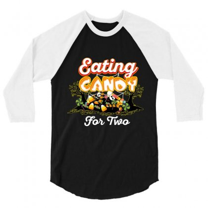 Eating Candy For Two 3/4 Sleeve Shirt Designed By Wizarts