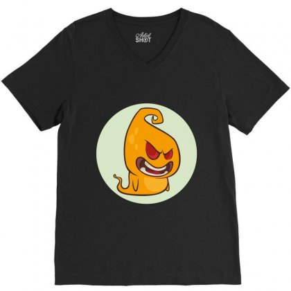 Face 2 V-neck Tee Designed By Wizarts