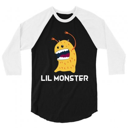 Lil Monster 3/4 Sleeve Shirt Designed By Wizarts