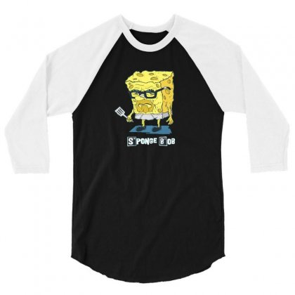 Sponge 3/4 Sleeve Shirt Designed By Disgus_thing