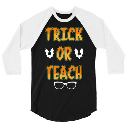 Trick Or Teach 3/4 Sleeve Shirt Designed By Wizarts