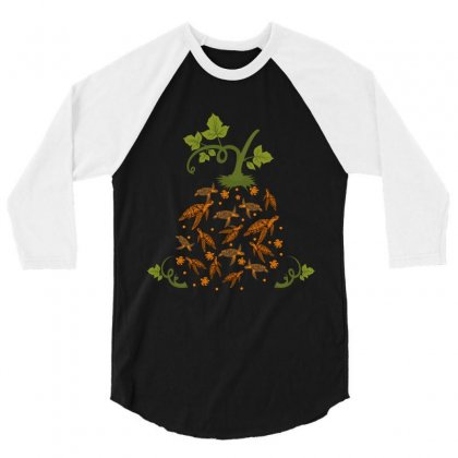 Turtle 3/4 Sleeve Shirt Designed By Wizarts