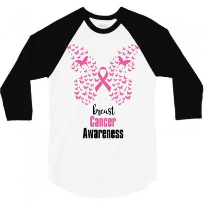 Breast Cancer Awareness 3/4 Sleeve Shirt Designed By Wizarts
