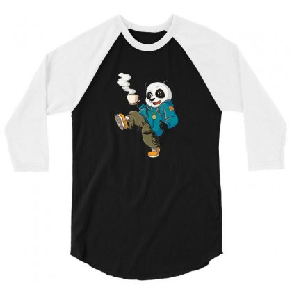 Panda 3/4 Sleeve Shirt Designed By Disgus_thing