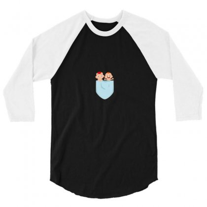 Pocket Baby 3/4 Sleeve Shirt Designed By Wizarts