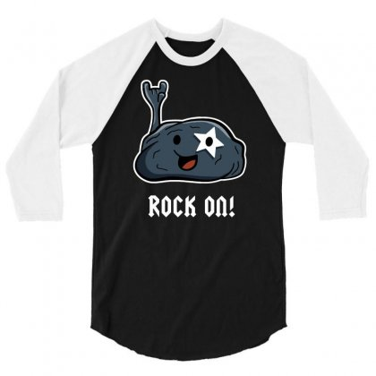 Rock Star 3/4 Sleeve Shirt Designed By Milaart