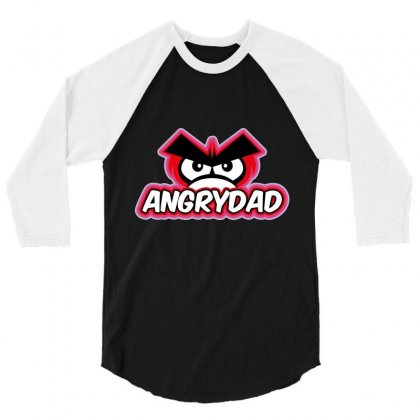 Angrydad 3/4 Sleeve Shirt Designed By Wizarts